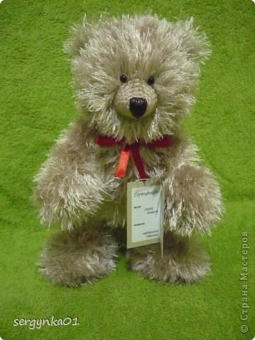 Еще один медвежонок, связанный мною в подарок ко дню рождения!!! Зовут его Сёмушка!!! фото 2