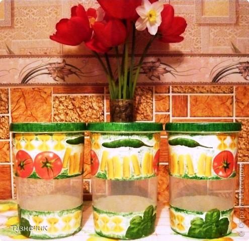 Теперь мои макаронки будут храниться вот в таких баночках... фото 1