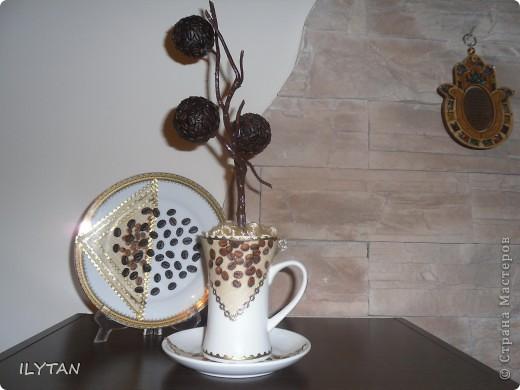 Декорирование  стакана  для  кисточек фото 2