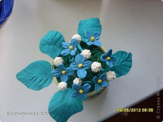 Букет роз...57штук, розы из глины, зелень искусственная для аквариума))) фото 5