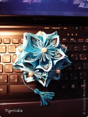 Королевская Кусудама в подарок фото 10