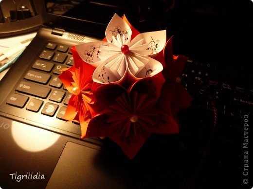 Королевская Кусудама в подарок фото 12