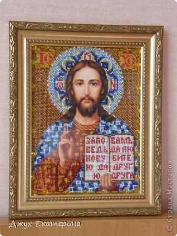 Картина и икона вышитые бисером фото 2