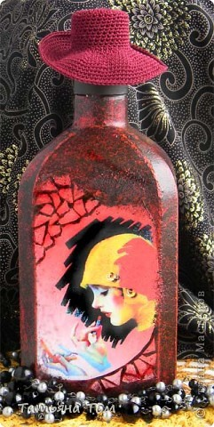 """Бутылка """"Дама в шляпе"""""""
