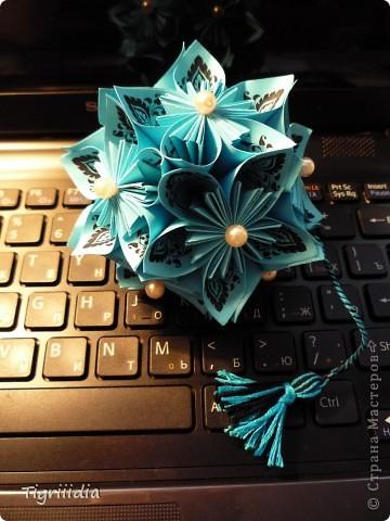 Королевская Кусудама в подарок фото 1