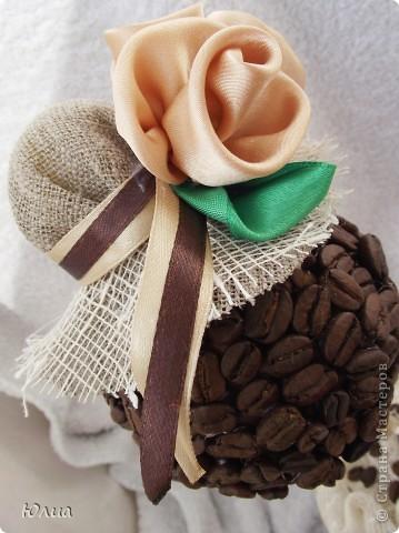 Добрый день, Мастерицы!!! Мечтала я мечтала о кофейном деревце, и вот смастерила и сразу два топиария.  фото 7