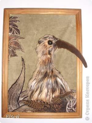 """Птичка на конкурс """"Птица года 2011""""- Вялiкi кулён. Делали вместе с сыном. Заняли 1 место в номинации """"Лучшая поделка""""."""