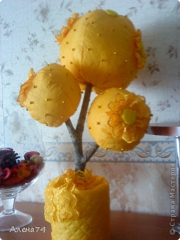 Топиарий желтый фото 1
