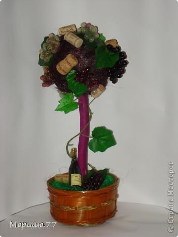 """Наконец то и я """"родила"""" Виноградное деревце!!!Идею  видела у Светленькая Лана, эммануэль 59,Рыжехвостая..."""