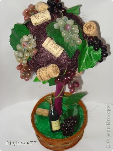 """Наконец то и я """"родила"""" Виноградное деревце!!!Идею  видела у Светленькая Лана, эммануэль 59,Рыжехвостая... фото 2"""