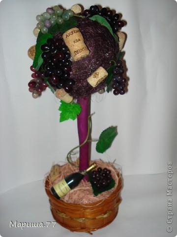 """Наконец то и я """"родила"""" Виноградное деревце!!!Идею  видела у Светленькая Лана, эммануэль 59,Рыжехвостая... фото 5"""