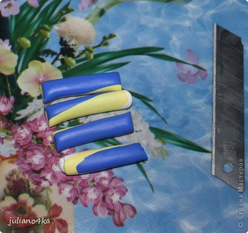 это и МК назвать сложно,так,может и сгодиться кому... я использовала 3 вида пластики ФИМО(софт и классик),баночкой раскатывала пластику(признаю,что это неудобно)зубочистка для дырочек,нож(у меня канцелярский),  колпачек для вырезания, коврик. фото 6