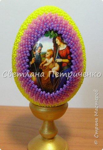 Яйцо оплетенное для мамы бисер фото 3