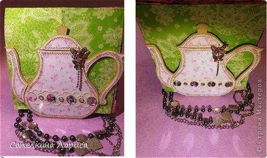 """Доброго времени суток ВСЕМ!!! Сегодня я снова со своим """"заболеванием"""" - чайничком, но в новом качестве. Чай родители в пакетиках не пьют, поэтому сделала салфетницу. Мой маленький подарочек для любимой мамочки!  фото 17"""