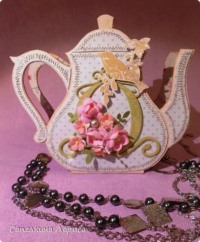"""Доброго времени суток ВСЕМ!!! Сегодня я снова со своим """"заболеванием"""" - чайничком, но в новом качестве. Чай родители в пакетиках не пьют, поэтому сделала салфетницу. Мой маленький подарочек для любимой мамочки!  фото 9"""