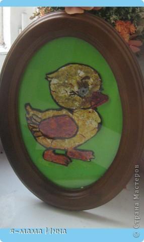 Утёнок из яичной скорлупы. Работа выполнена моей воспитанницей детского сада из подготовительной группы.