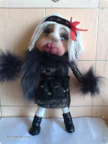 Каркасная текстильная кукла.