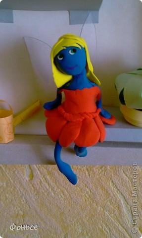 Вчера слепилась фея =))) Маленькая, миниатюрная куколка с прозрачными крылышками, зелёными глазами, золотыми волосами и стройными ножками... Итак, представляю вам Ангелину! фото 1