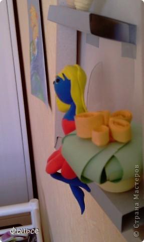 Вчера слепилась фея =))) Маленькая, миниатюрная куколка с прозрачными крылышками, зелёными глазами, золотыми волосами и стройными ножками... Итак, представляю вам Ангелину! фото 3