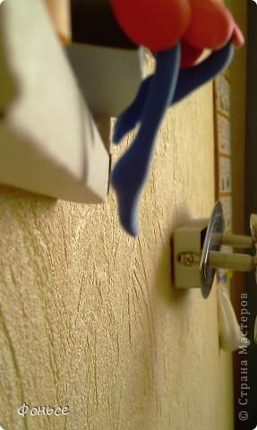 Вчера слепилась фея =))) Маленькая, миниатюрная куколка с прозрачными крылышками, зелёными глазами, золотыми волосами и стройными ножками... Итак, представляю вам Ангелину! фото 4