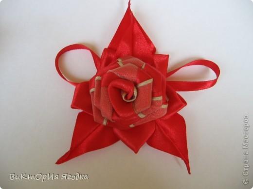 """Брошь """"Красная роза"""" фото 1"""