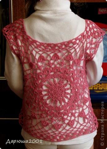 Вот и опять обновочка для дочки-туника из остатков ниток от маминого платья http://stranamasterov.ru/node/376251. Туника связалась очень быстро - за один день. Фото со спины (перед идентичен). :-) фото 1