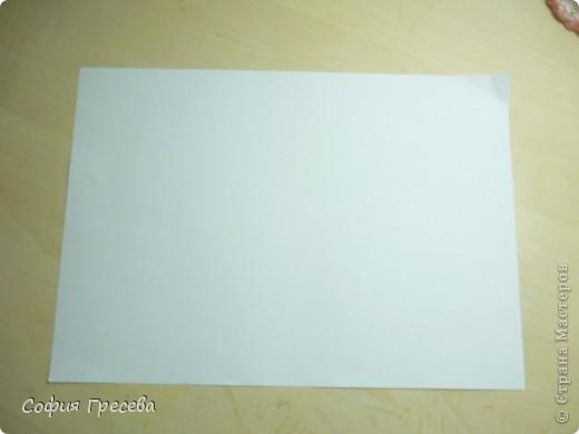Такая открытка  делается за 5 минут. В этом мк я делала из обычного белого листа просто на показ , но если вы делаете её в подарок то лучше сделать из цветной бумаги. фото 2