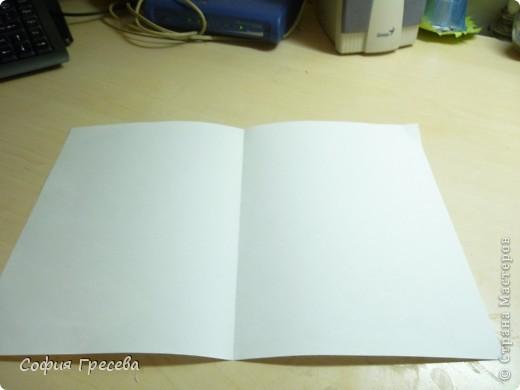Такая открытка  делается за 5 минут. В этом мк я делала из обычного белого листа просто на показ , но если вы делаете её в подарок то лучше сделать из цветной бумаги. фото 4