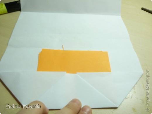 Такая открытка  делается за 5 минут. В этом мк я делала из обычного белого листа просто на показ , но если вы делаете её в подарок то лучше сделать из цветной бумаги. фото 20