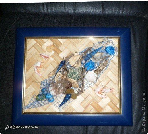 Картина панно рисунок Мастер-класс Коллаж Коллаж в технике терра Мастер-класс Морское дно с креветками Материал природный фото 3