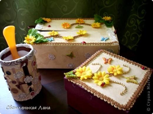 Доброго времени суток, жители Страны Мастеров!!! Еще коробочки для мамы украсила по ее просьбе... фото 1