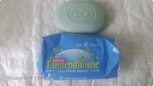 Цвет получился какой-то  глинистый, ведь мыло изначально грязно голубое, но зато «натуральность налицо».  фото 2