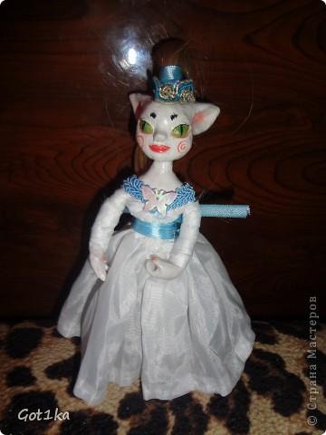 Куколка 15 см, сделана из керапласта, волосики искусственные) фото 1