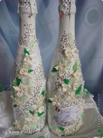 Добрый день!!Вот такие бутылочки получились на летнюю свадьбу=)Дальше просто фото фото 2