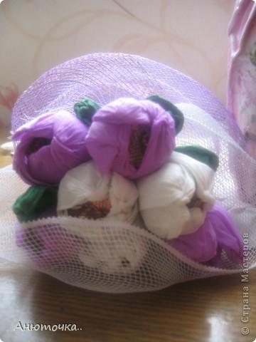 Цветочки делала впервые, подарила родственнице на ДР фото 2
