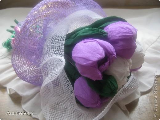 Цветочки делала впервые, подарила родственнице на ДР фото 1