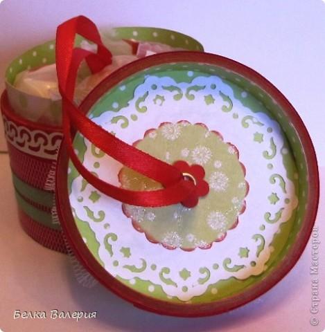 Здравствуйте! Сегодня я Вам покажу бонбоньерку, сделанную из бобины от скотча. фото 12