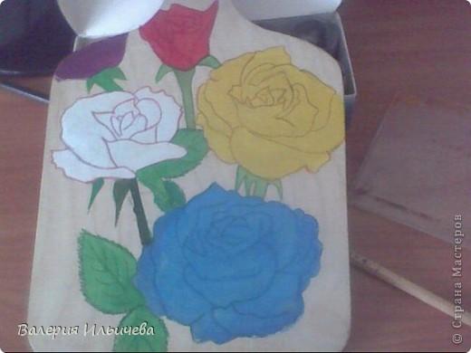 Розы.Это моя первая работа с росписью так что не судите строго)