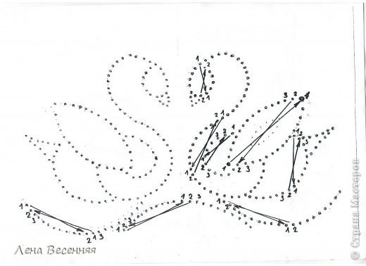 Изонить Вышиваем лебедей