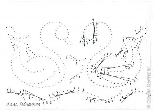 Доброго времени суток дорогие жители СМ!!! Предлагаю вашему вниманию мои схемы пары лебедей. Они очень простые и на них можно учиться освоению изонити. По 1 схеме небольшой МК.  Коротко о символике лебедей. Почитание лебедей имеет очень древние корни. Их образ у наших далёких предков часто связывался с солнцем, лебеди сопровождали Бога Солнца, влекли солнечное колесо.  С символикой лебедя связан бог Брахма. Лебедь или гусь - его персональная эмблема. Это та самая волшебная птица, что отложила на воды космическое яйцо, из которого появился сам Брахма.  В греко-римской традиции эта птица - знак любвеобилия, связанная с Афродитой.  Германцы считали лебедей птицами, которые могут предсказывать будущее, полагали, что в них превращаются души юных дев. У древних племен Западной Европы лебединые божества тоже ассоциируются с солнечной колесницей и являются благодетелями людей, обладают целительными силами, символизируют щедрость, любовь и чистоту.  Китайцы также называют лебедя солнечной птицей. У бурят он является олицетворением вечного материнства. У славян лебединая пара - воплощение супружеской верности, красоты, мужества, храбрости. Казахи называют лебедя царём птиц, кеты считают вестником весны и тепла.  В христианстве белый лебедь - это чистота, милосердие и символ Девы Марии.   фото 32
