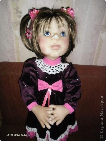 Здравствуйте ! На этой девочке пока заканчиваю больших кукол. Её ростик-84см. фото 2