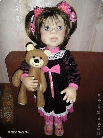 Здравствуйте ! На этой девочке пока заканчиваю больших кукол. Её ростик-84см. фото 4