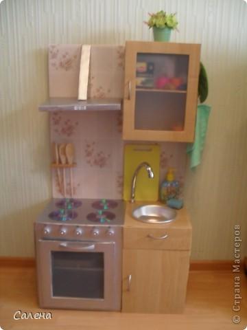 Детская кухня своими руками из картона мастер класс