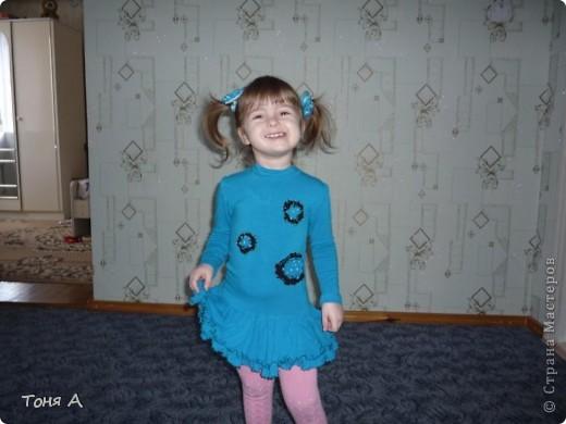 В таких платьях мои девочки ходили зимой в садик. Полюбила шить из трикотажа!!! Легко, просто и красиво!!!  фото 3