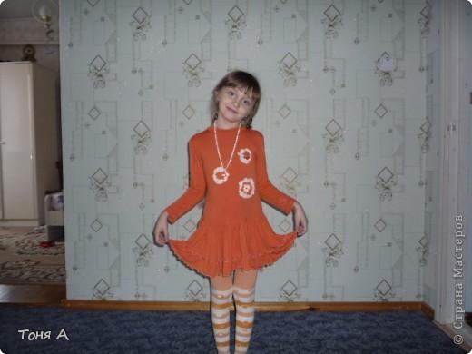 В таких платьях мои девочки ходили зимой в садик. Полюбила шить из трикотажа!!! Легко, просто и красиво!!!  фото 4