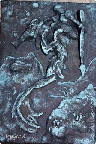 """Работу Максим выполнял в художественной школе , тема была """" обитатели подводного царства """"  фото 1"""