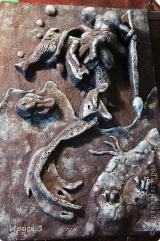 """Работу Максим выполнял в художественной школе , тема была """" обитатели подводного царства """"  фото 2"""