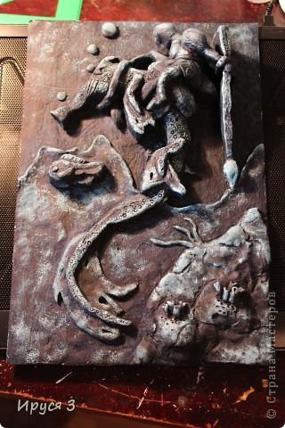 """Работу Максим выполнял в художественной школе , тема была """" обитатели подводного царства """"  фото 4"""