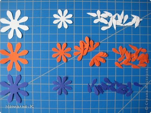Приглашаю всех,(кому интересно) в мою рабочую ,,кухню,, Предлагаю вам рецепт ,,Цветы из дырокольных цветов,, фото 6