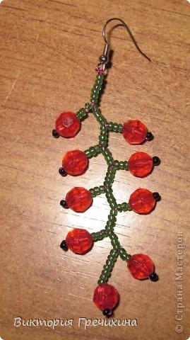 Здравствуйте, жители СМ! В этом мастер-классе я расскажу Вам как делать вот такие сережки - смородинки! Здесь моя конкурсная работа - http://stranamasterov.ru/node/363891 фото 14